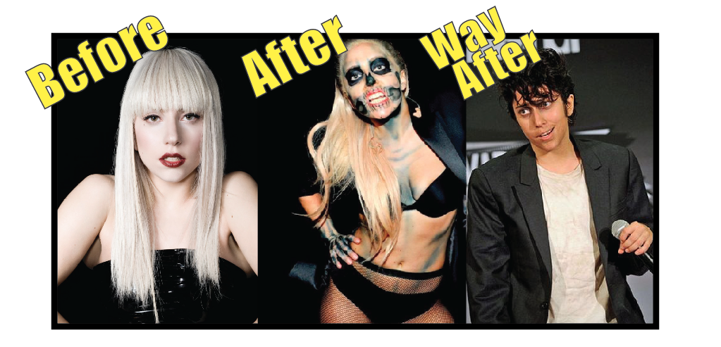 Lady Gaga before vs after