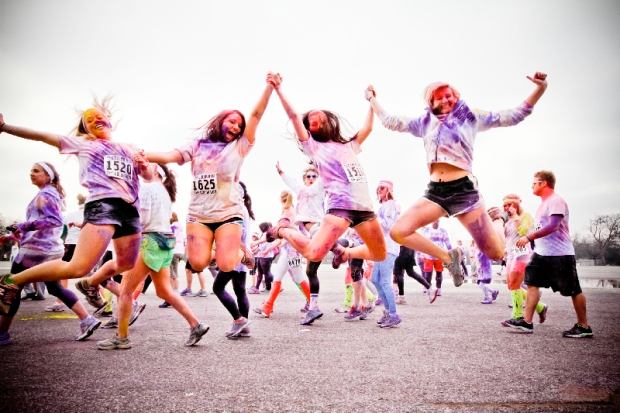 Runners from last year's Color Run.